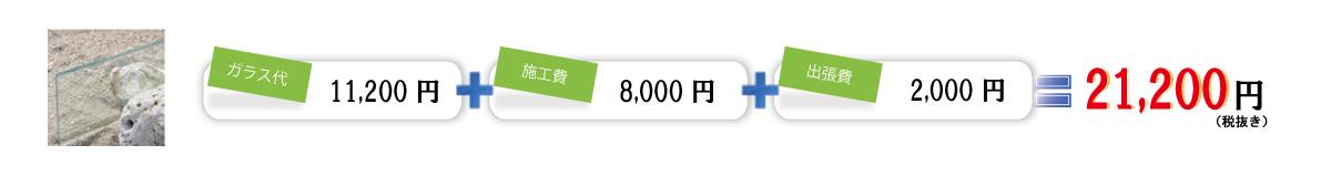 透明菱ワイヤーガラス交換料金表