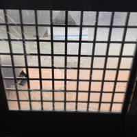 玄関ドアのガラス交換